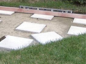 Patio stones in gravel