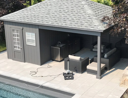 Custom pool sheds duroshed for Custom pool cabanas