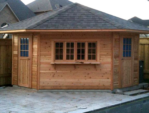 Cost to build a shed from scratch hanike for Pool shed with bar plans