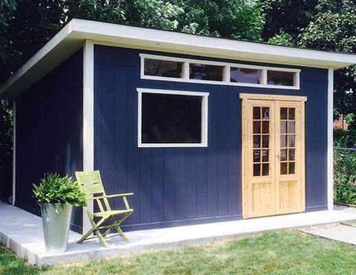 Garden sheds toronto storage sheds toronto duroshed for Sloped roof shed